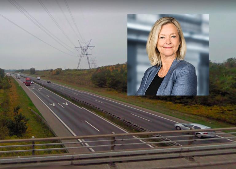 3 spor på motorvejen ved Horsens
