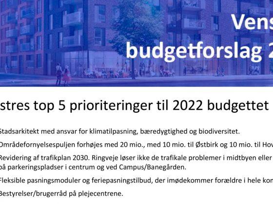 Budget for 2022 4 ud af 5 kom i hus